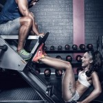 couples working out - gym