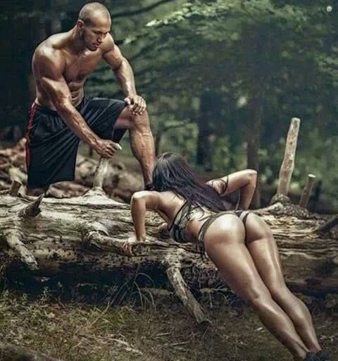 couples doing workout together