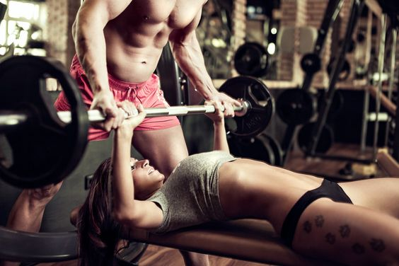 couples workout - gym