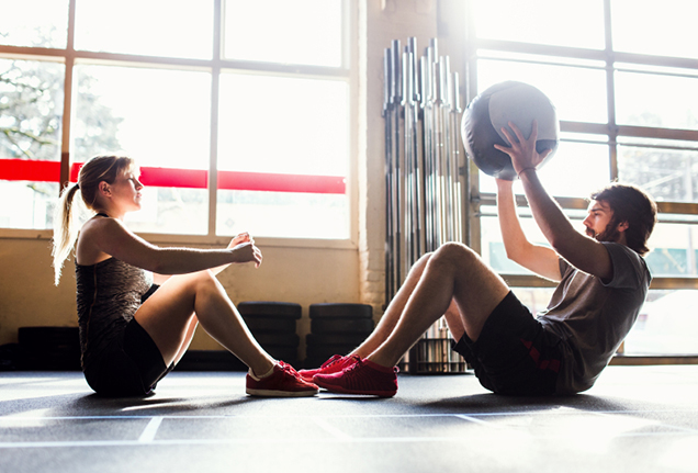 couples workout - situps