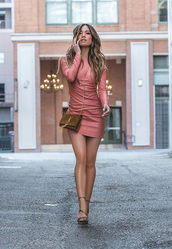 beautiful woman short dress
