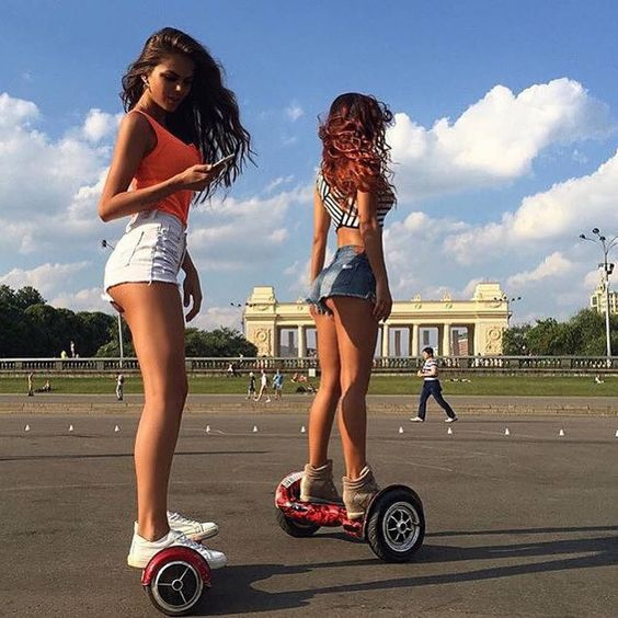 hot girls on hoverboards