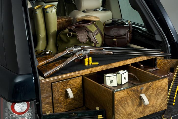 Holland & Holland Range Rover glamping guns