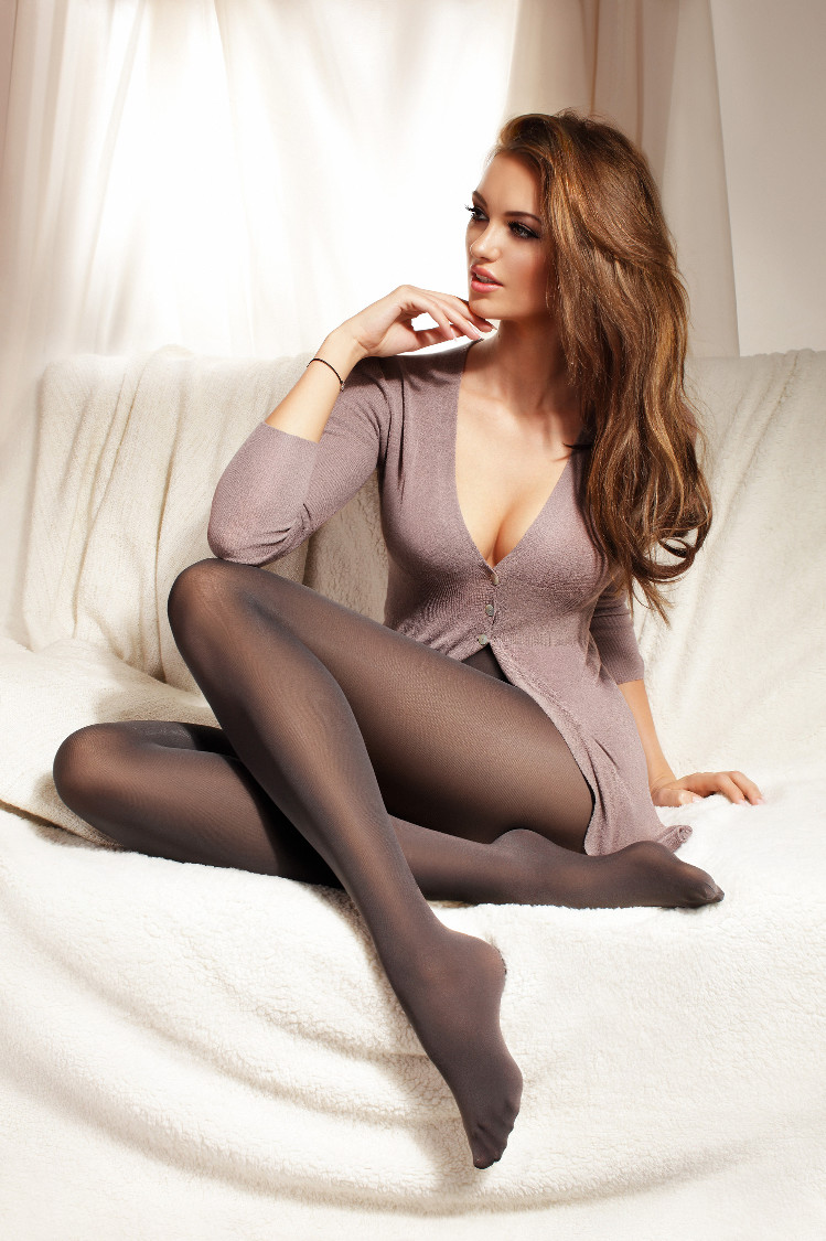 Lovely Woman Only In Lingerie On