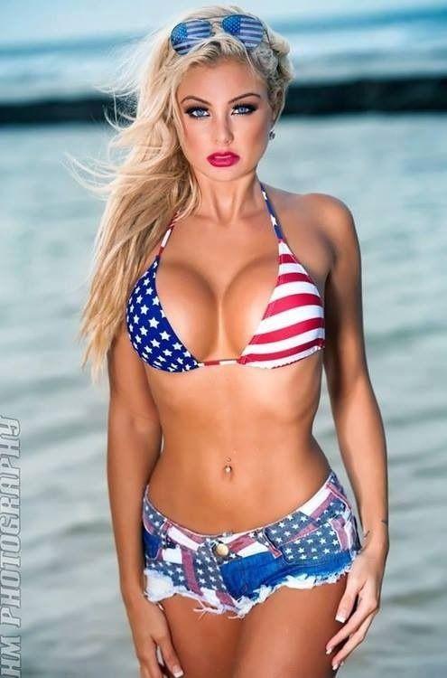 4th of July bikini babe