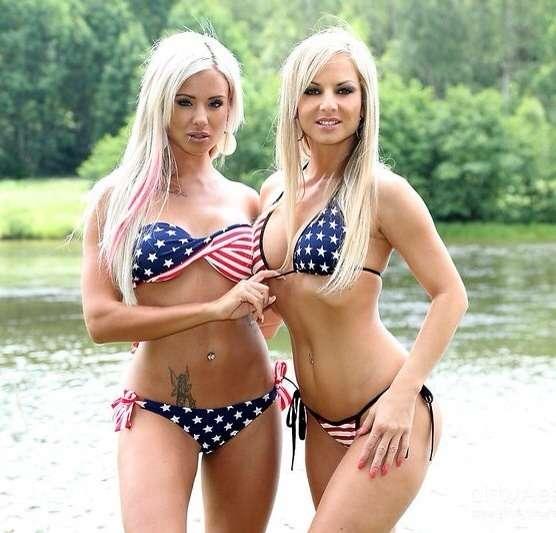 American Flag Bikini Girls