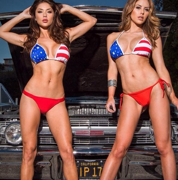 Brittney Palmer And Arianny Celeste - God bless America