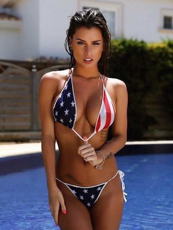 USA flag bikini