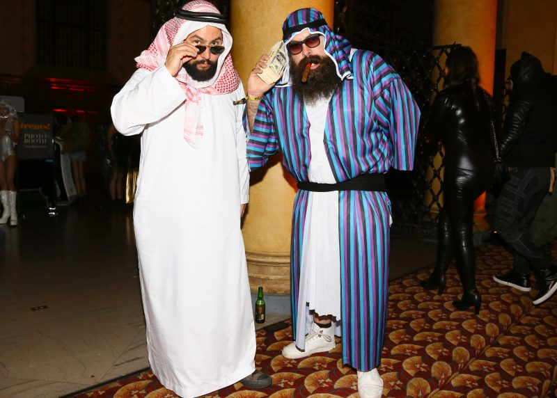 LOS ANGELES, CA - OCTOBER 29: Mr. Falcon (L) and Young Beardo attend Trick or treats! - The 6th Annual treats! Magazine Halloween Party Sponsored by Absolut Elyx on October 29, 2016 in Los Angeles, California. (Photo by Gabriel Olsen/WireImage)