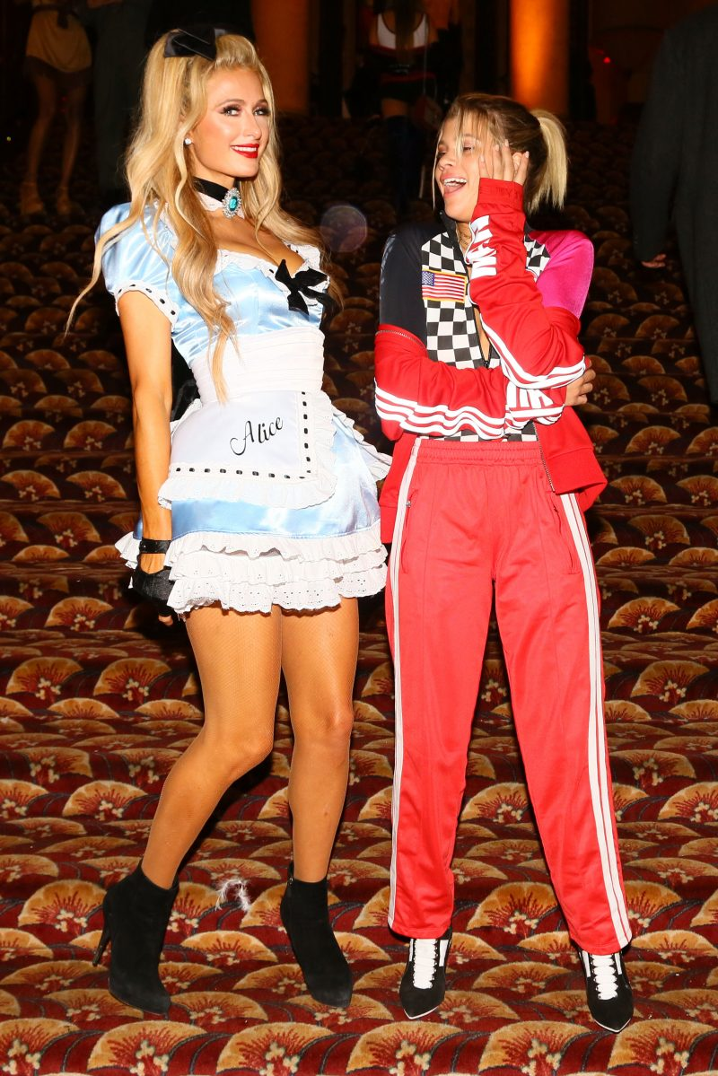 LOS ANGELES, CA - OCTOBER 29: Paris Hilton (L) and Sofia Richie attend Trick or treats! - The 6th Annual treats! Magazine Halloween Party Sponsored by Absolut Elyx on October 29, 2016 in Los Angeles, California. (Photo by Gabriel Olsen/WireImage)