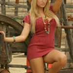 sexy blonde country girl