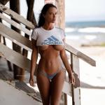 Charlie Riina bikini - underboob
