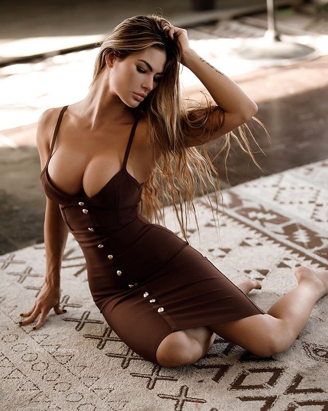 Katelyn Runck sexy dress